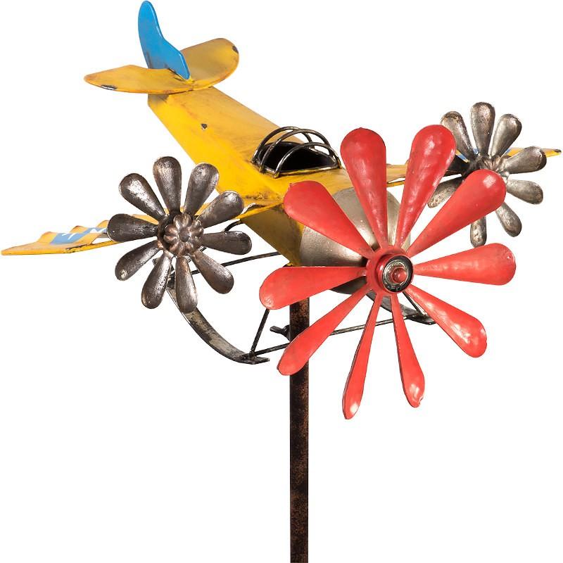 Moulin à vent métallique Colours in Motion 3-Prop avion