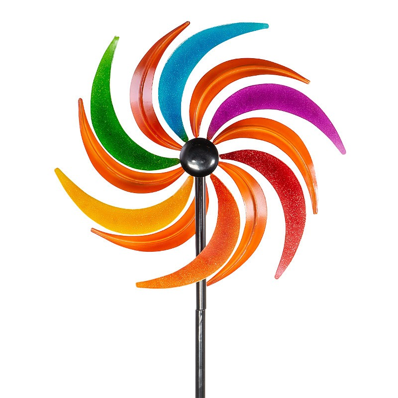 Moulin à vent métallique Colours in Motion Sichelrad 34 cm