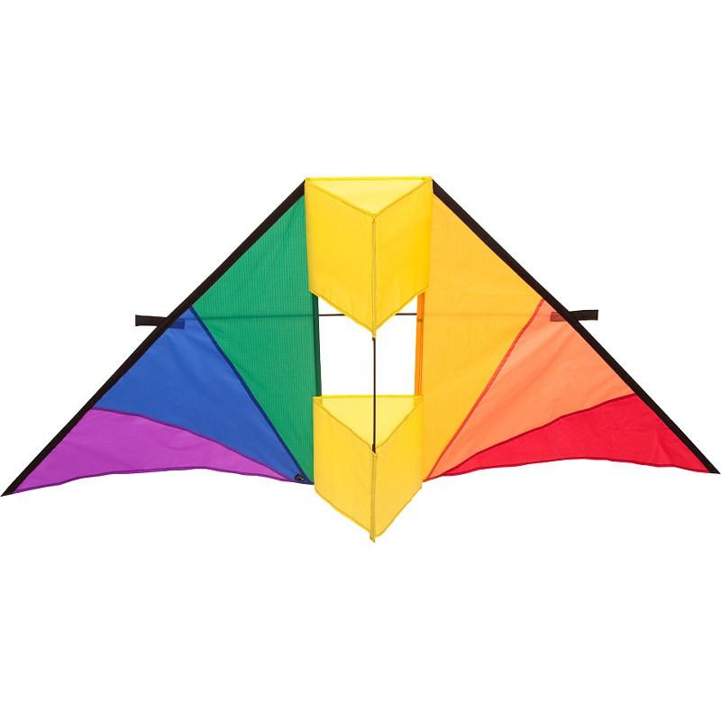 Cerf-volant monofil HQ Delta Conyne arc-en-ciel