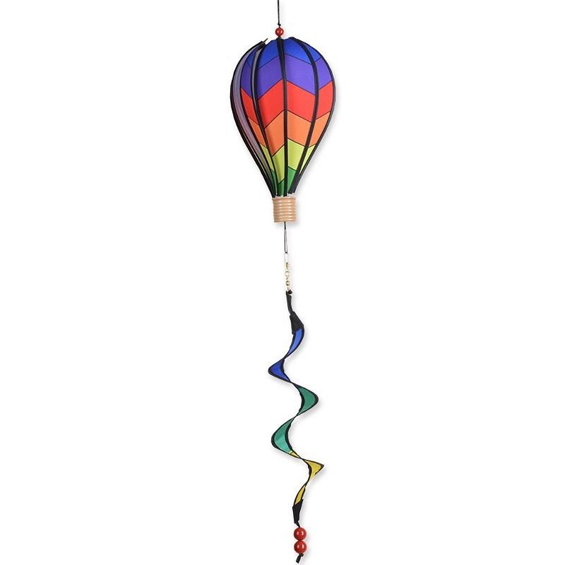 """Montgolfière Premier Kites Hot Air Balloon Chevron Rainbow 12"""" / 30 cm"""