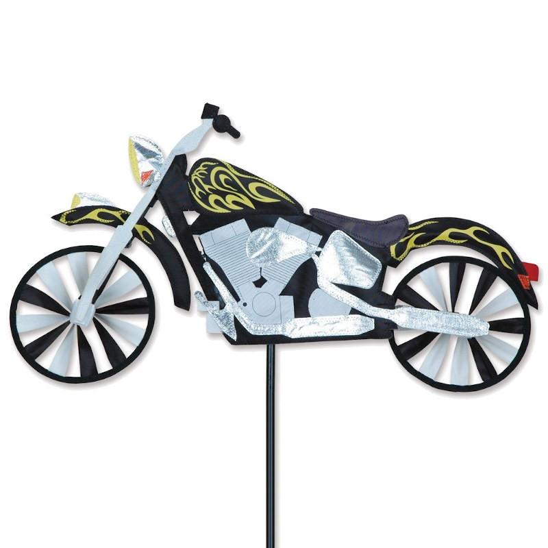 "Moto éolienne Premier Kites Motorcycle Spinner Flame 22"" / 56 cm"