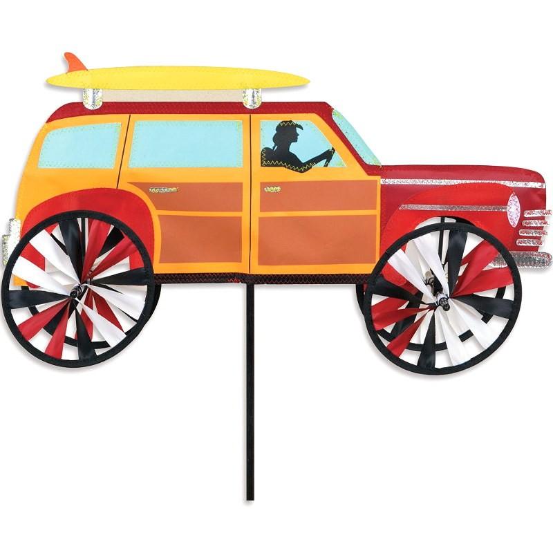 """Voiture éolienne Premier Kites Woody Spinner 21"""" / 53 cm"""