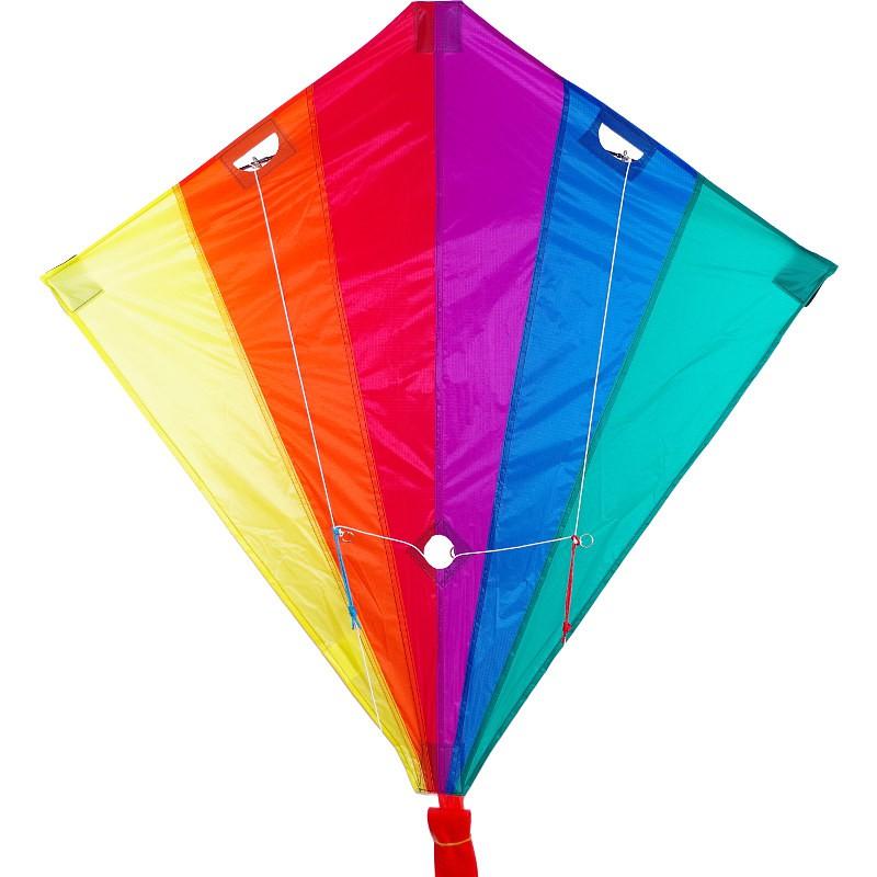 Cerf-volant 2 lignes Wolkenstürmer Racer Rainbow multicolore