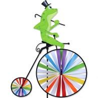 Cycliste Premier Kites High Wheel Bike Spinner Fashionable Frog