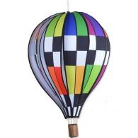 """Montgolfière Premier Kites Hot Air Balloon Checkered Rainbow 22"""" / 55 cm"""