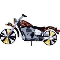 "Moto éolienne Premier Kites Motorcycle Spinner Flame 32"" / 81 cm"