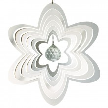 Mobile inox Colours in Motion Mirror Crystal Flower