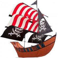 Cerf-volant monofil 3D HQ Blackbeard's Ship
