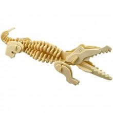 Maquette en bois crocodile