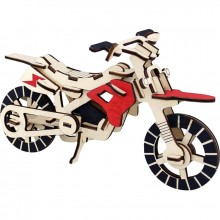 Maquette en bois motocross