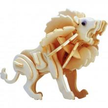 Maquette en bois lion