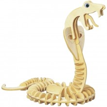 Maquette en bois serpent cobra