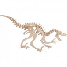 Maquette en bois velociraptor