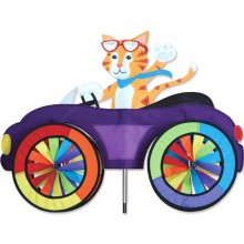 "Voiture éolienne Premier Kites Car Spinner Cat 25"" / 63 cm chat"