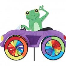 """Voiture éolienne Premier Kites Car Spinner Frog 25"""" / 63 cm grenouille"""