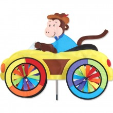 "Voiture éolienne Premier Kites Car Spinner Monkey 25"" / 63 cm singe"