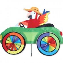 """Voiture éolienne Premier Kites Car Spinner Parrot 25"""" / 63 cm perroquet"""