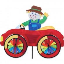 """Voiture éolienne Premier Kites Car Spinner Scarecrow 25"""" / 63 cm épouvantail"""