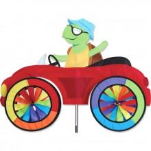 "Voiture éolienne Premier Kites Car Spinner Turtle 25"" / 63 cm tortue"