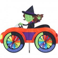 """Voiture éolienne Premier Kites Car Spinner Witch 25"""" / 63 cm sorcière"""