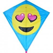 Cerf-volant monofil Premier Kites Diamond Luv Emoji