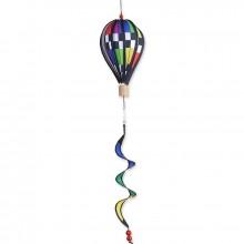 """Montgolfière Premier Kites Hot Air Balloon Checkered Rainbow 12"""" / 30 cm"""