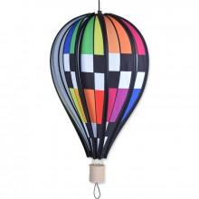"""Montgolfière Premier Kites Hot Air Balloon Checkered Rainbow 18"""" / 45 cm"""