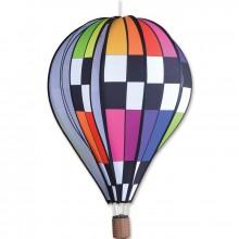 "Montgolfière Premier Kites Hot Air Balloon Checkered Rainbow 26"" / 66 cm"