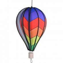 """Montgolfière Premier Kites Hot Air Balloon Chevron Rainbow 18"""" / 45 cm"""