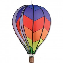 "Montgolfière Premier Kites Hot Air Balloon Chevron Rainbow 22"" / 55 cm"