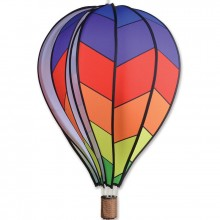 "Montgolfière Premier Kites Hot Air Balloon Chevron Rainbow 26"" / 66 cm"