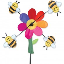 """Moulin à vent Premier Kites Whirligig Bumble Bees 13"""" abeilles 33 cm"""