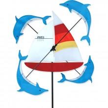 "Moulin à vent Premier Kites Whirligig Sailboat 13"" voilier 32 cm"