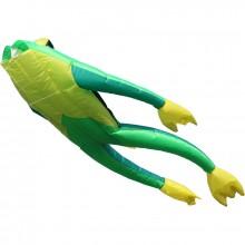 Cerf-volant monofil 3D Wolkenstürmer Fritz the Frog grenouille 210 cm vert