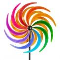 Moulin à vent métallique Colours in Motion Sichelrad 60 cm